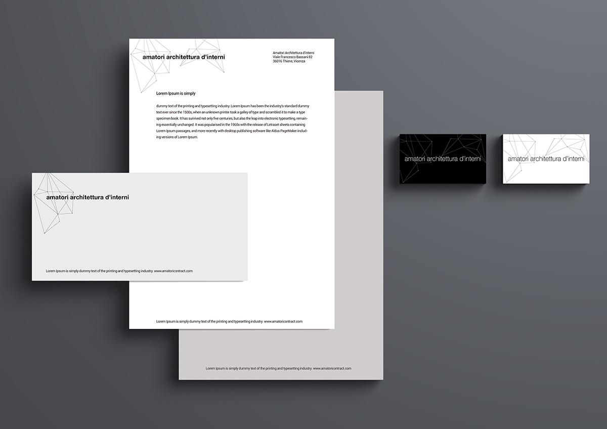 Amatori architettura d'interni corporate identity